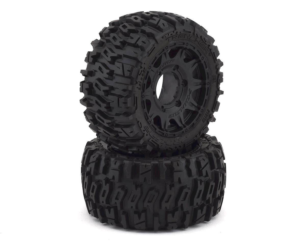 "Pro-Line Trencher Low Profile 2.8"" Tires w/Raid Rear Wheels (2) (Black) (Traxxas Jato)"