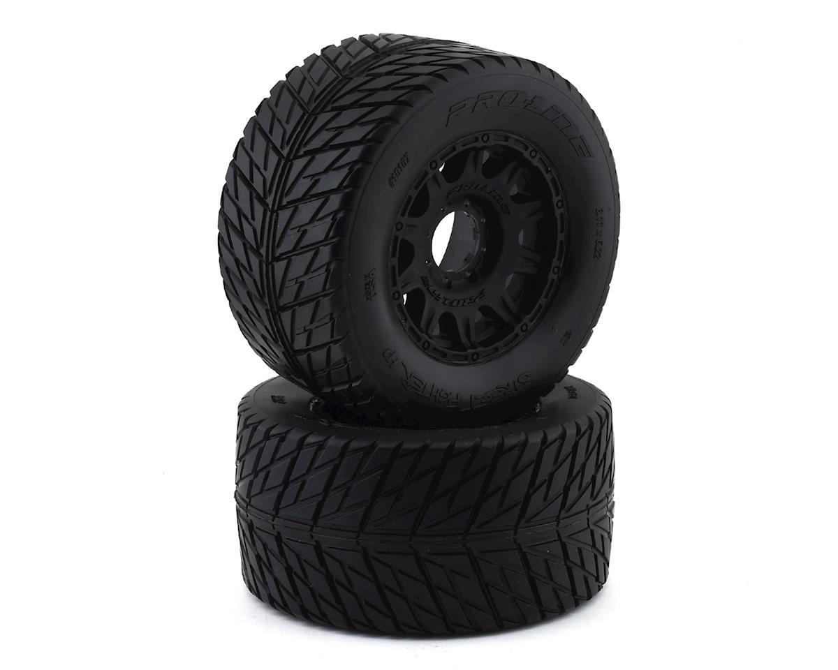 """Pro-Line Street Fighter HP 3.8"""" Belted Tires Pre-Mounted w/Raid Wheels (2)"""