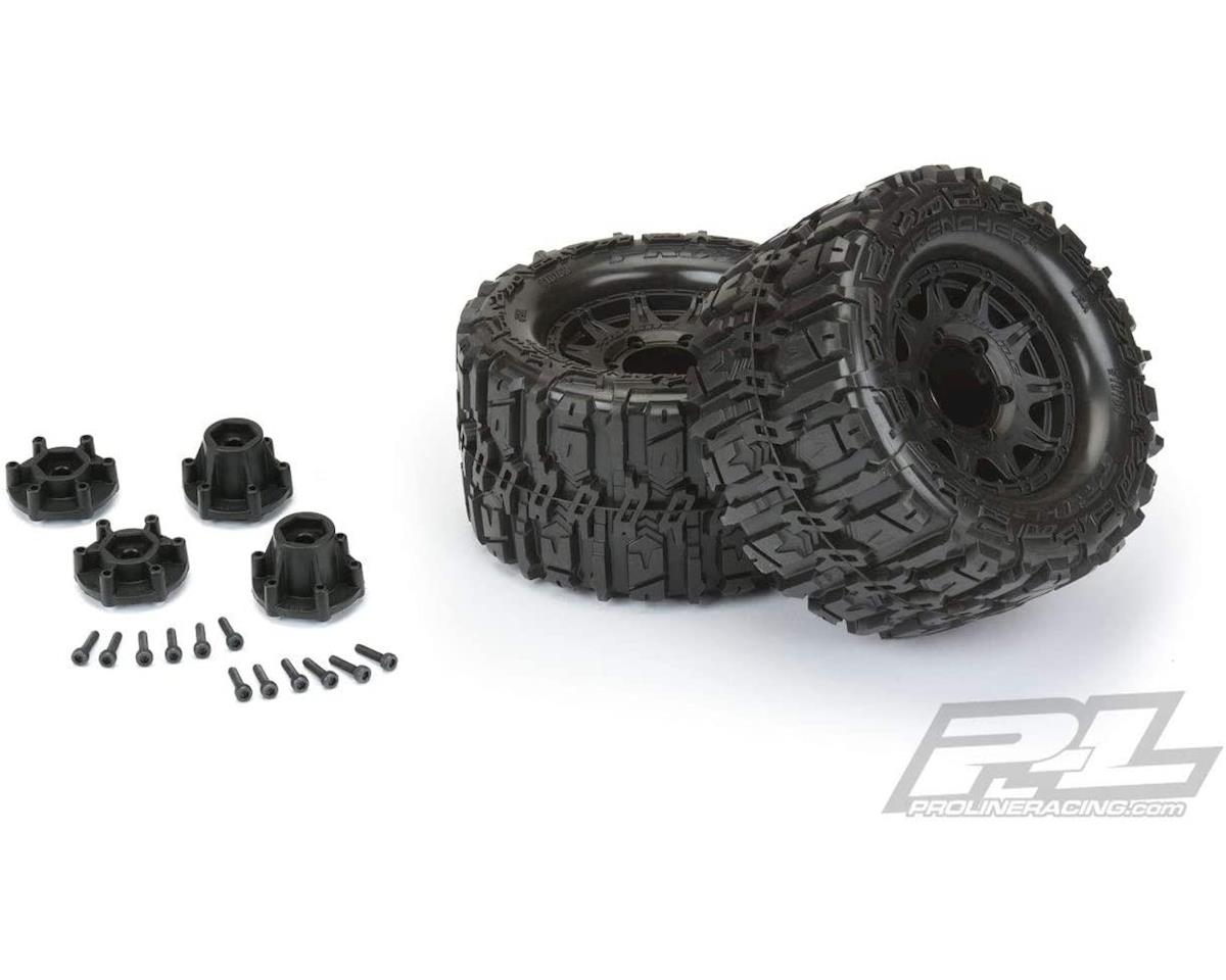 "Pro-Line Trencher HP Belted 2.8"" Pre-Mounted Truck Tires (M2) (2) (Black)"