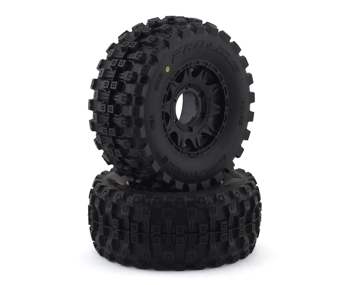 "Pro-Line Badlands MX28 Belted 2.8"" Pre-Mounted Truck Tires (2) (Black) (Traxxas Stampede)"