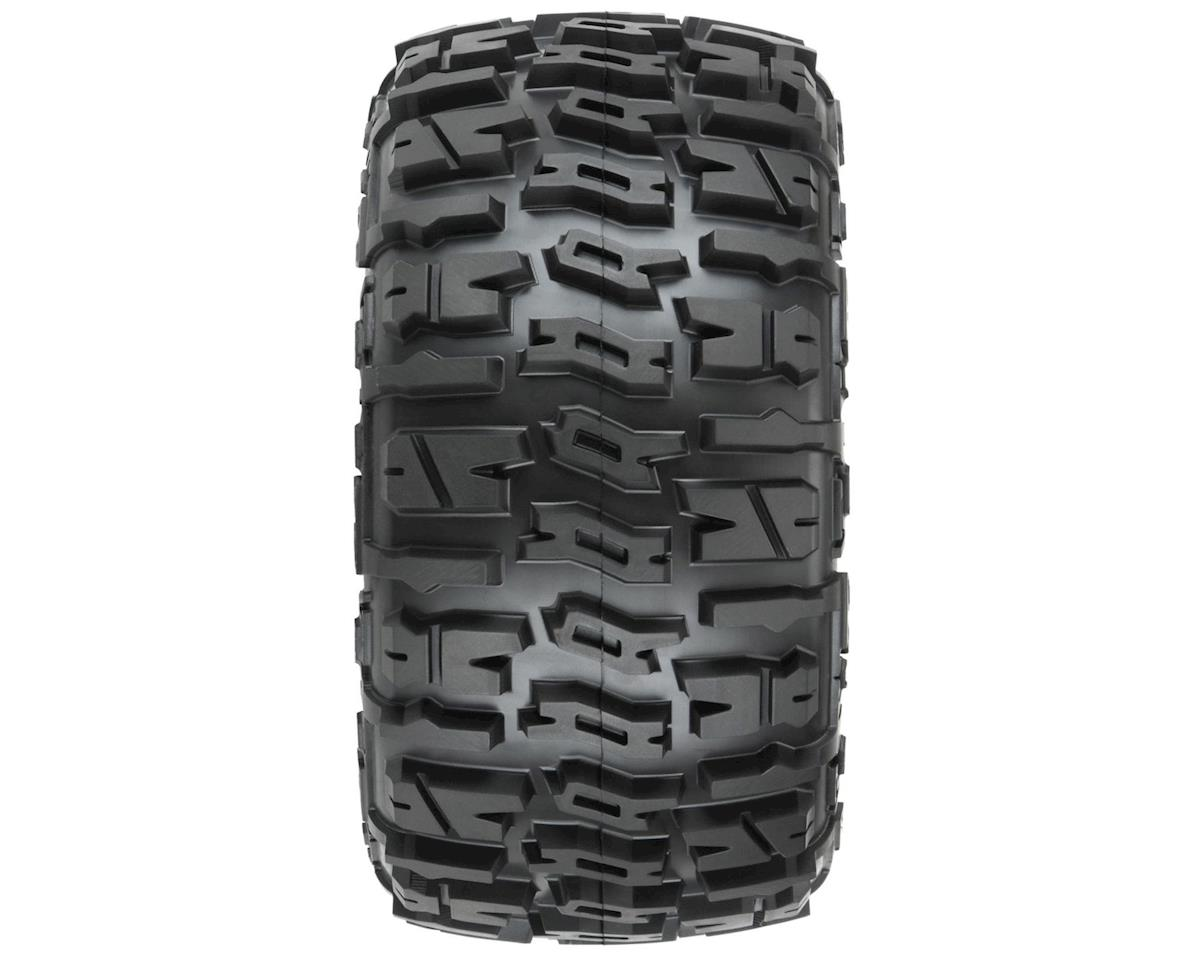 "Pro-Line Trencher LP 3.8"" Pre-Mounted Truck Tires (2) (Black)"