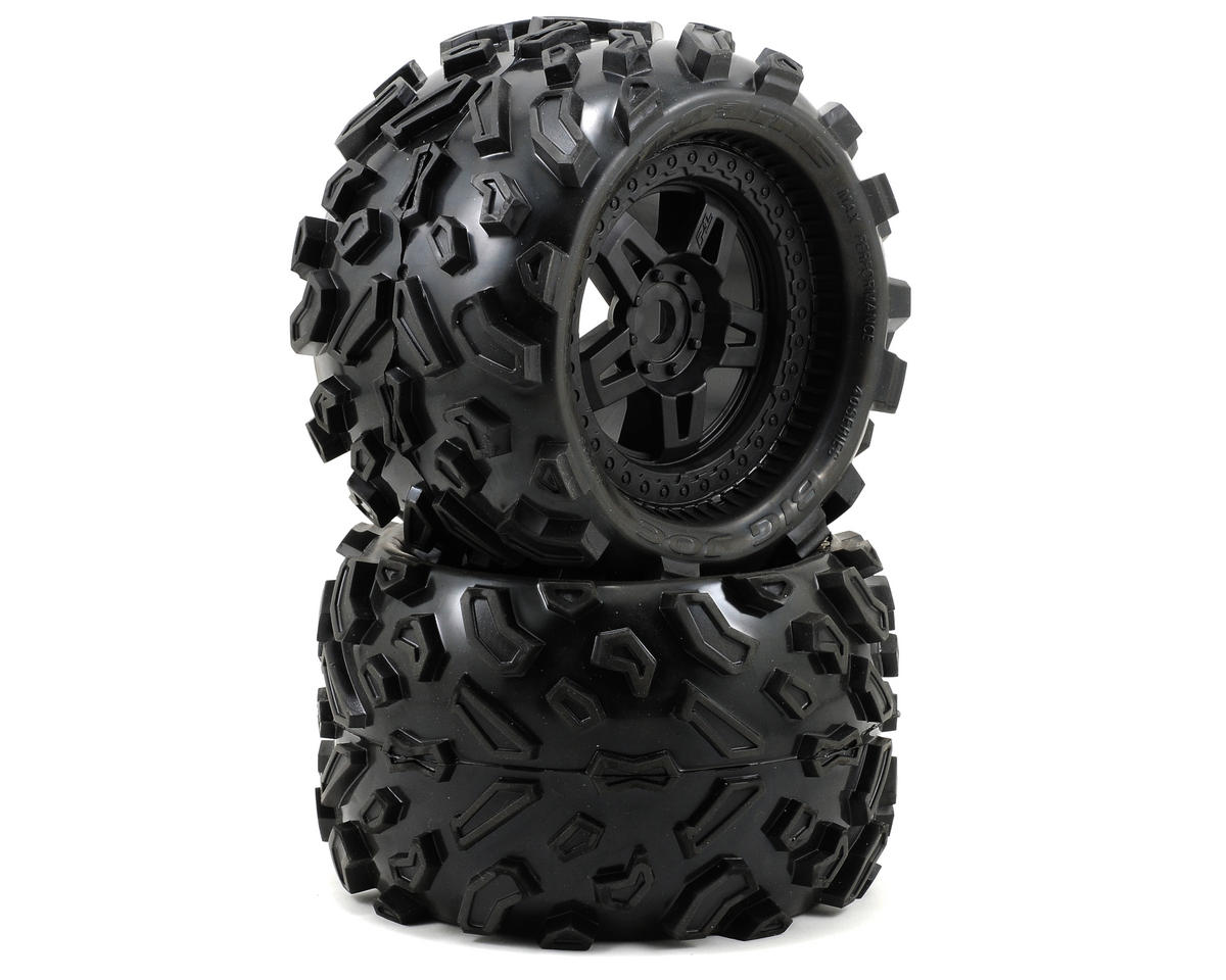 Pro-Line 40 Series Big Joe Tire w/Tech 5 Monster Truck Wheel (2) (Black) (Tekno RC MT410)