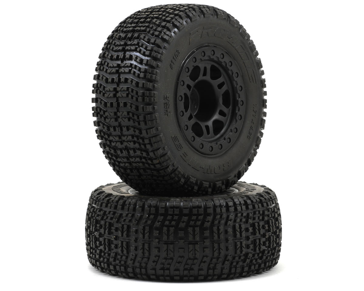 Pro-Line Bow-Tie SC 2.2/3.0 M2 Tires w/Split Six One-Piece Wheels (Black) (2) (S