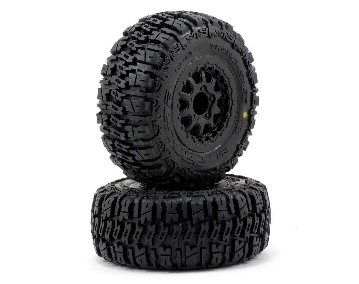 Pro-Line Trencher SC Tires w/Renegade Wheels (2) (Slash Rear) (OFNA Jammin SCRT 10 Nitro)