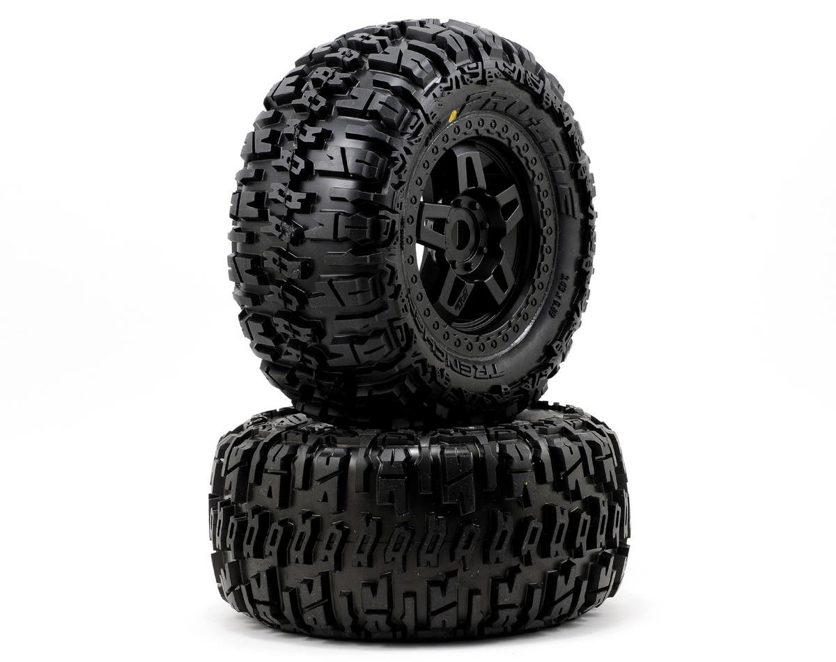 Pro-Line 40 Series Trencher Tire w/Tech 5 17mm Monster Truck Wheel (2) (Tekno RC MT410)
