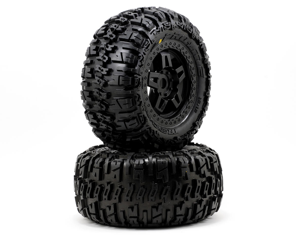 40 Series Trencher Tire w/Tech 5 17mm Monster Truck Wheel (2) (M2) by Pro-Line