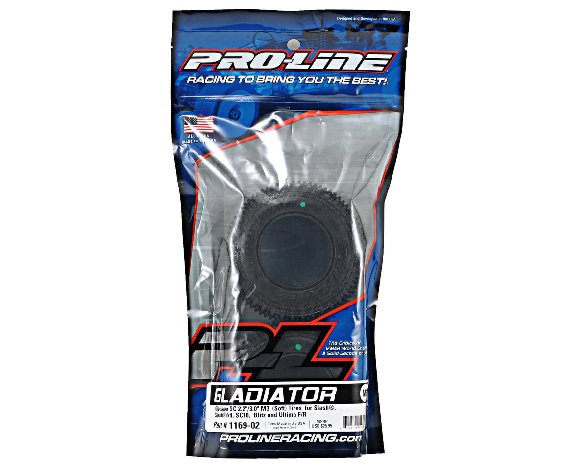 "Gladiator SC 2.2""/3.0"" Short Course Truck Tires (2) (M3) by Pro-Line"