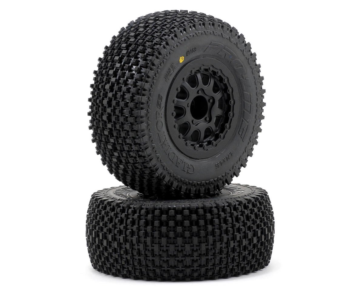 Pro-Line Gladiator SC Tires w/Renegade Wheels (2) (Slash Rear) (OFNA Jammin SCRT 10)