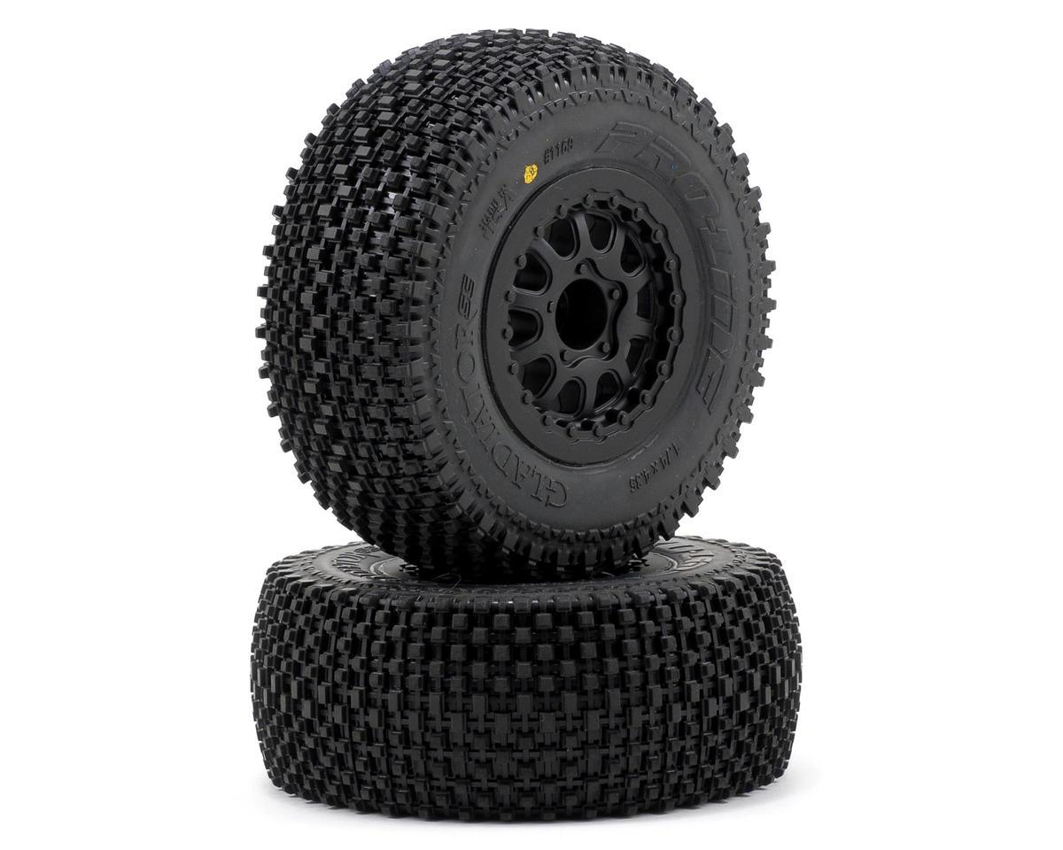 Gladiator SC Tires w/Renegade Wheels (2) (Slash Rear) (M2) by Pro-Line
