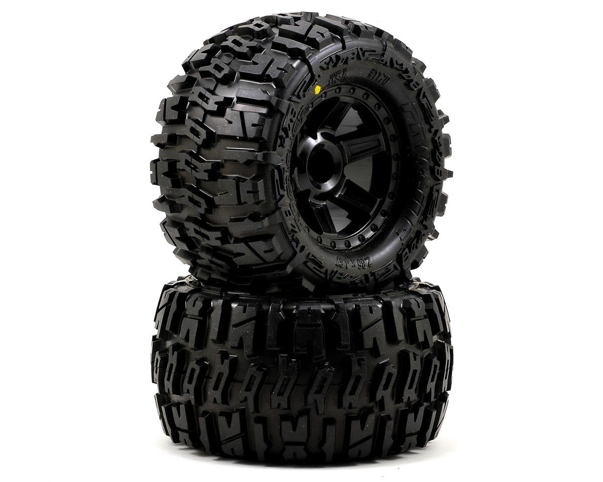 "Pro-Line Trencher 2.8"" Tires w/Desperado Nitro Rear Wheels (2) (Black) 