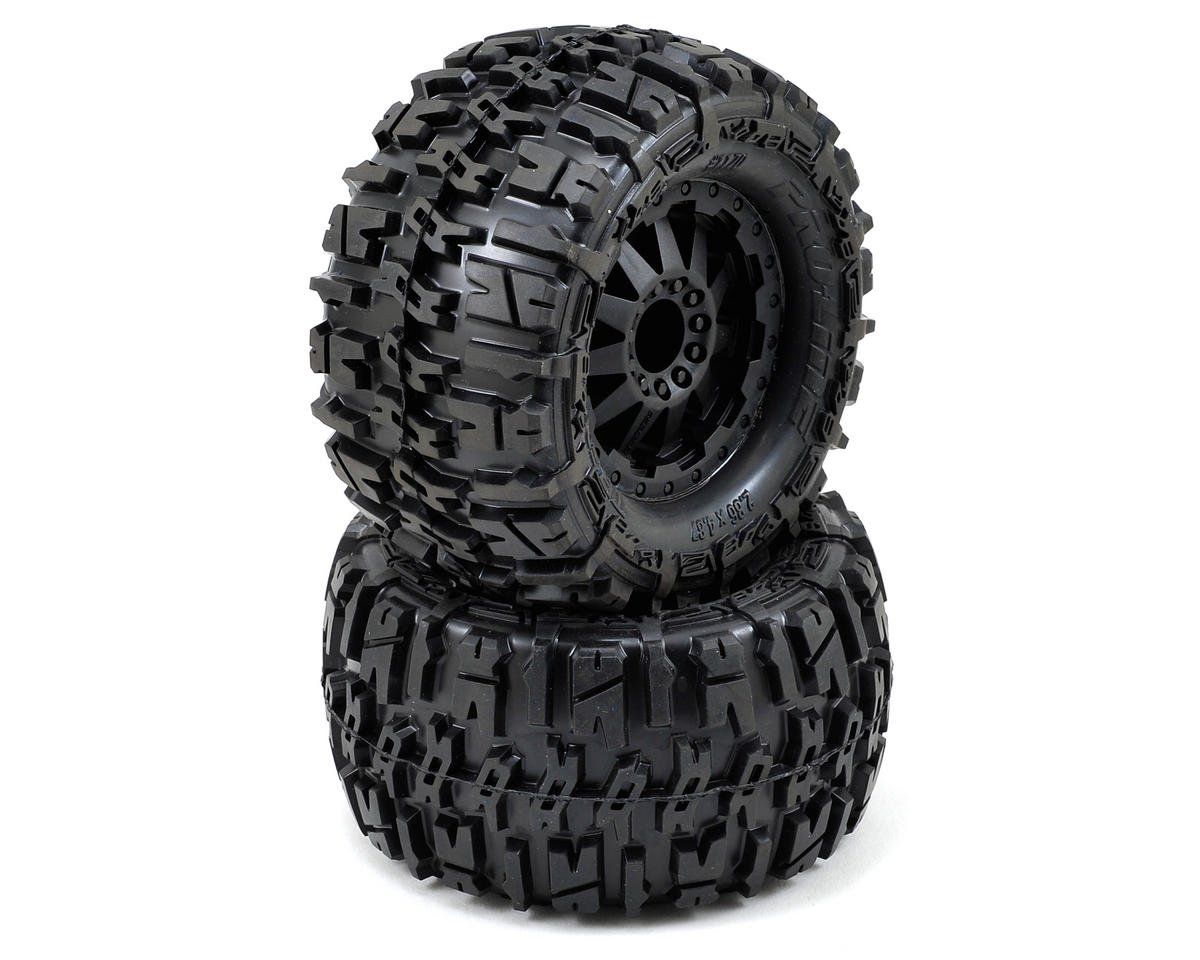 "Pro-Line Trencher 2.8"" Tires w/F-11 Electric Rear Wheels (2) (Black)"