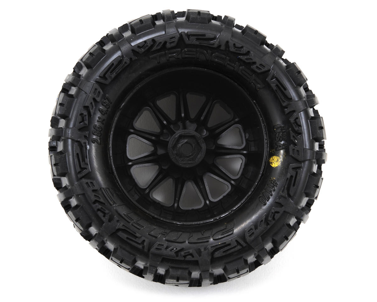 "Pro-Line Trencher 2.8"" Tires w/F-11 Electric Rear Wheels (2) (Black) (M2)"