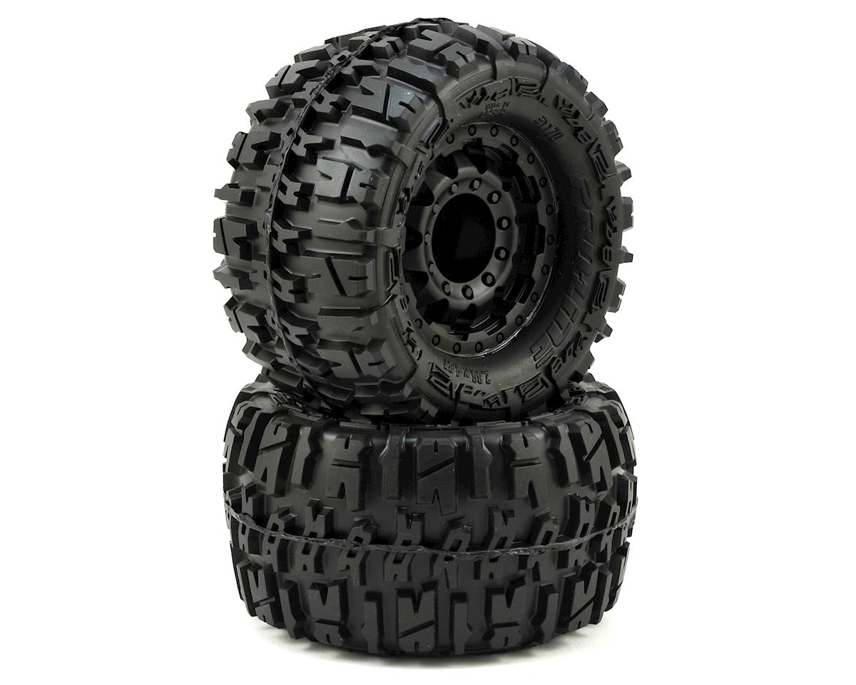 "Trencher 2.8"" Tires w/F-11 Nitro Rear Wheels (2) (Black) by Pro-Line"
