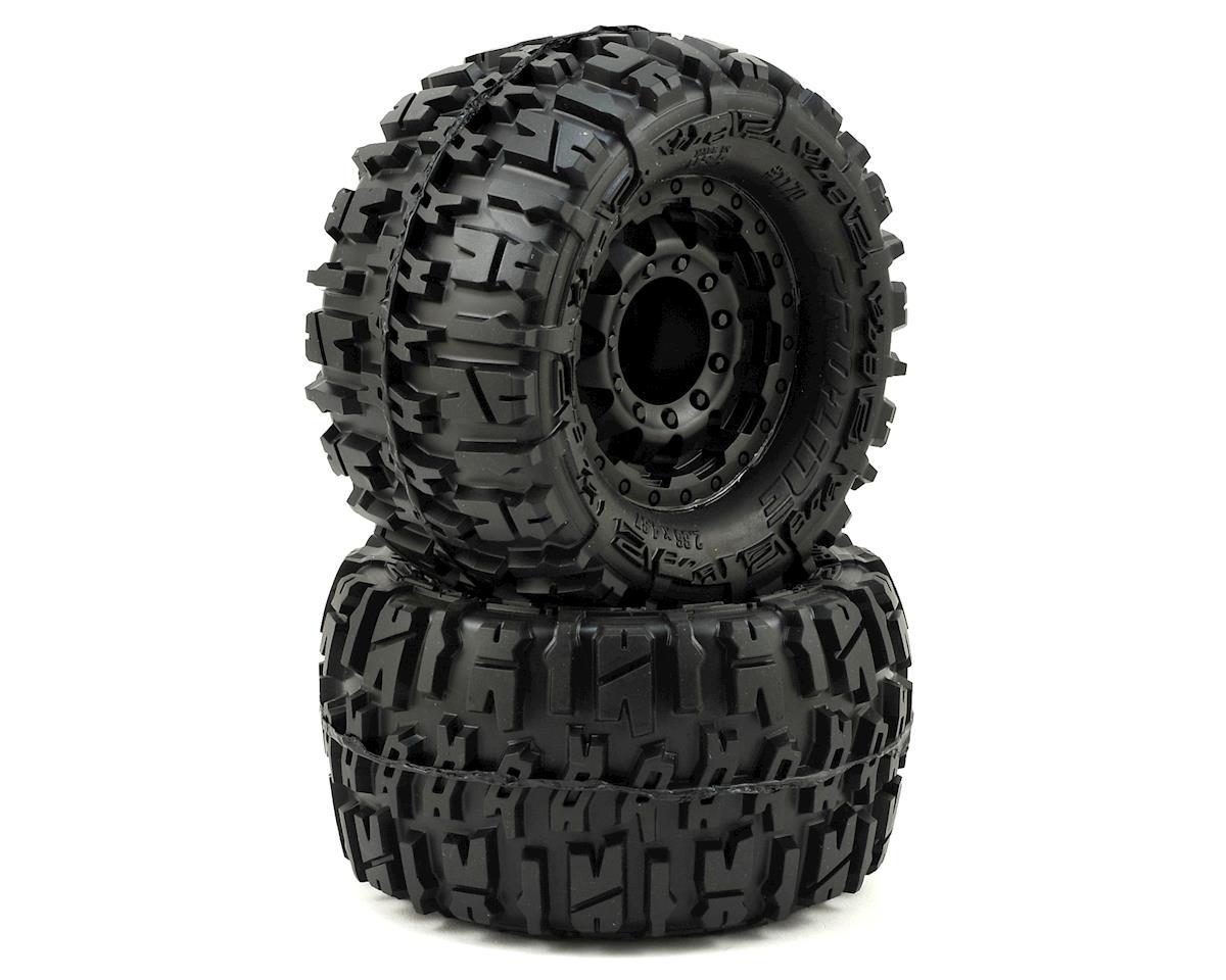 "Trencher 2.8"" Tires w/F-11 Nitro Rear Wheels (2) (Black) by Pro-Line"