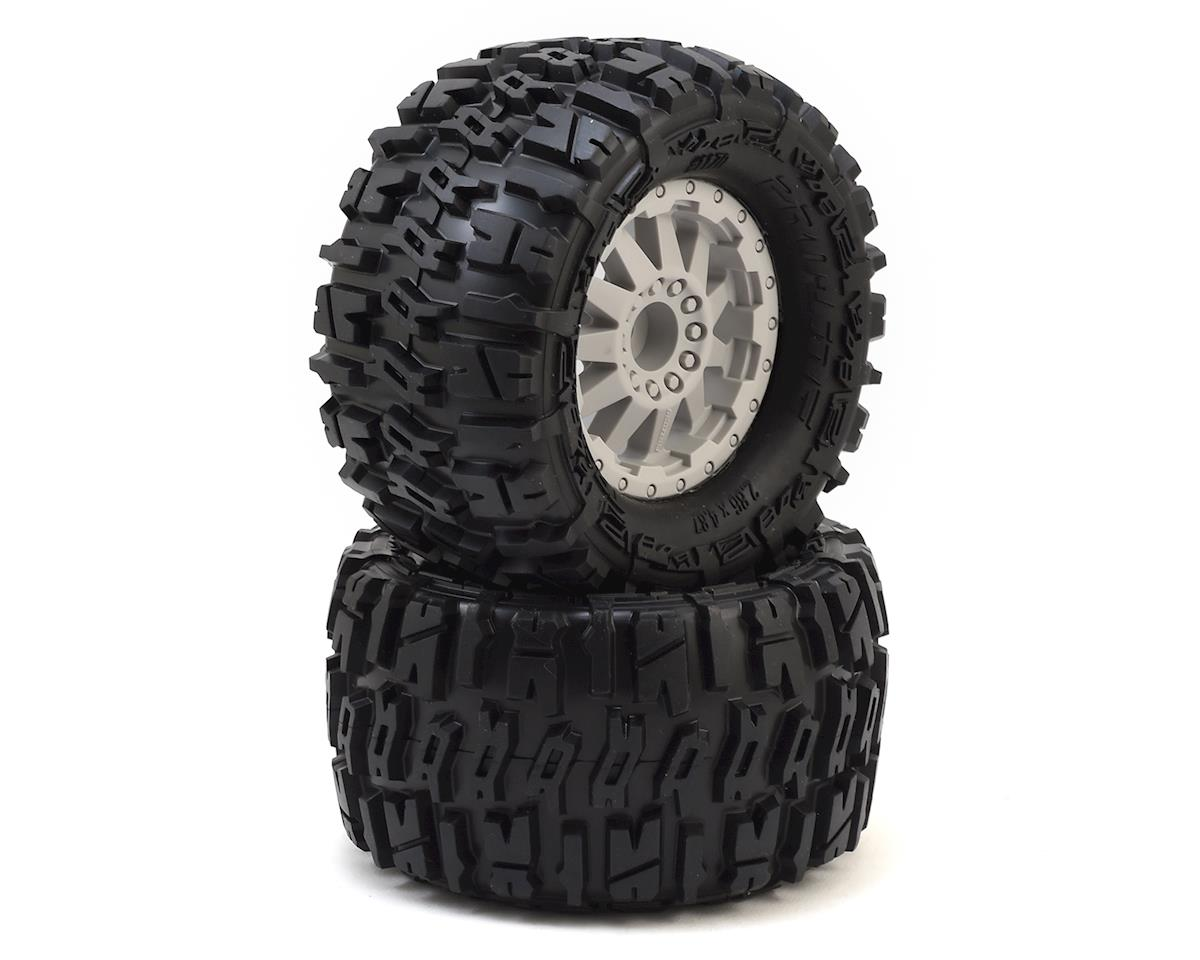 "Pro-Line Trencher 2.8"" Tires w/F-11 Electric Rear Wheels (2) (Grey) (M2)"