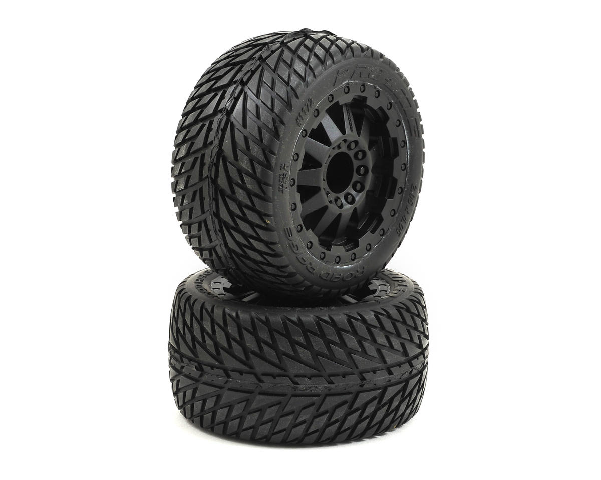 Pro-Line 30 Series Road Rage 2.8 w/F-11 Nitro Rear Wheels (2) (Black) (Traxxas Rustler)