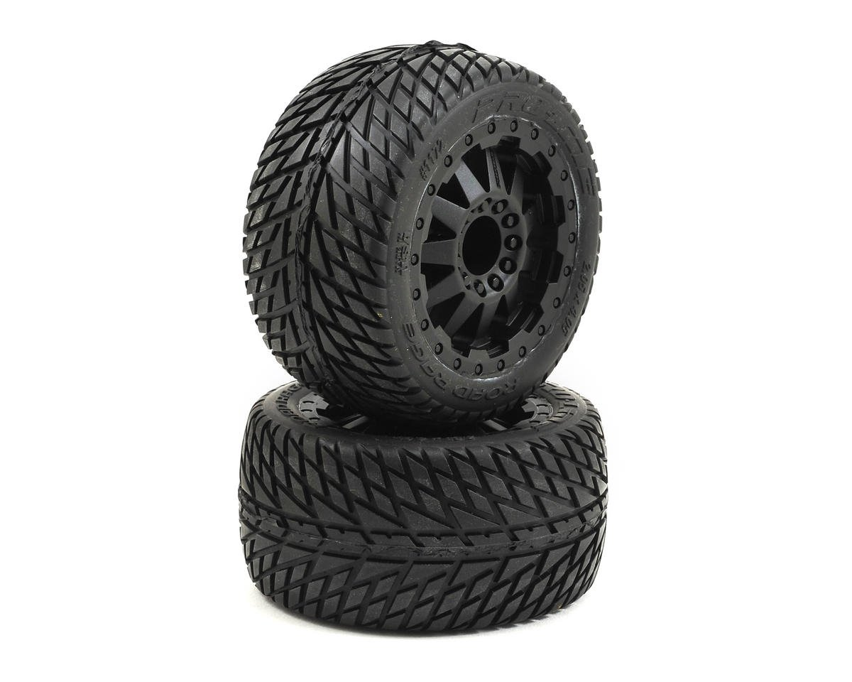 30 Series Road Rage 2.8 w/F-11 Nitro Rear Wheels (2) (Black) (M2) by Pro-Line