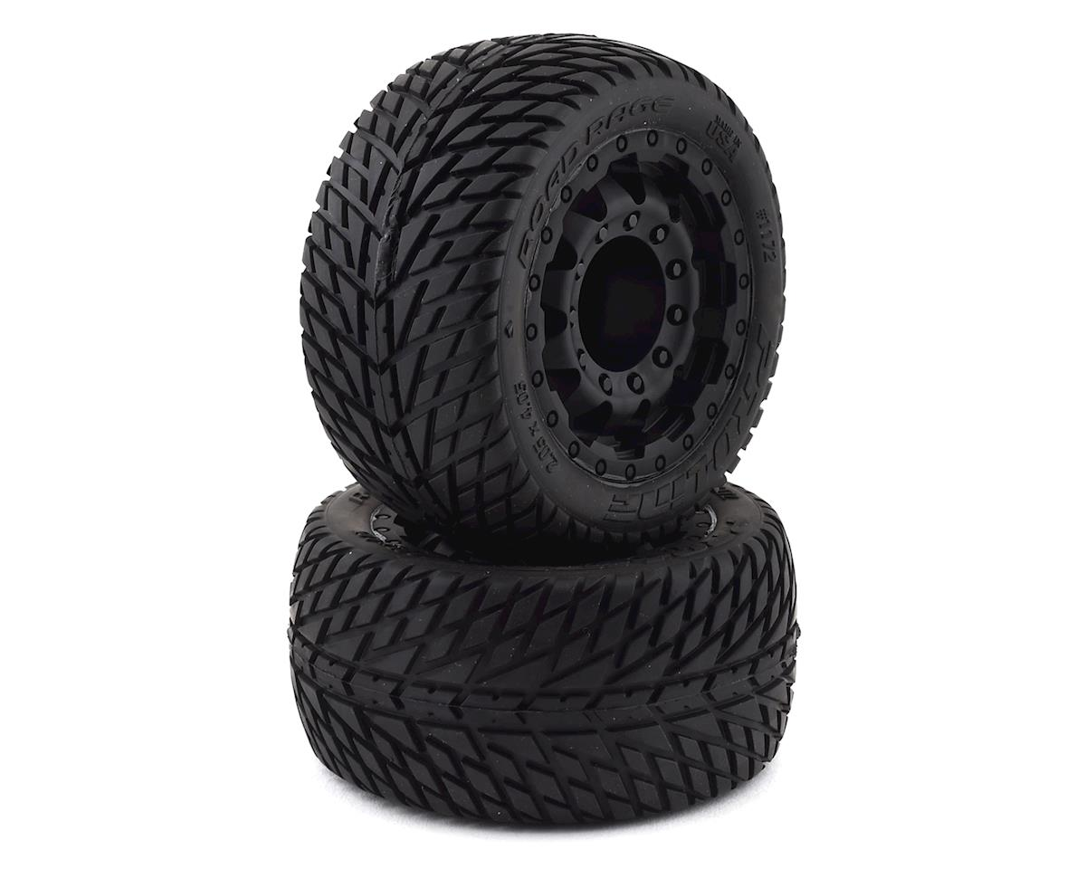 "Pro-Line Road Rage 2.8"" Tires w/F-11 Nitro Rear Wheels (2) (Black)"