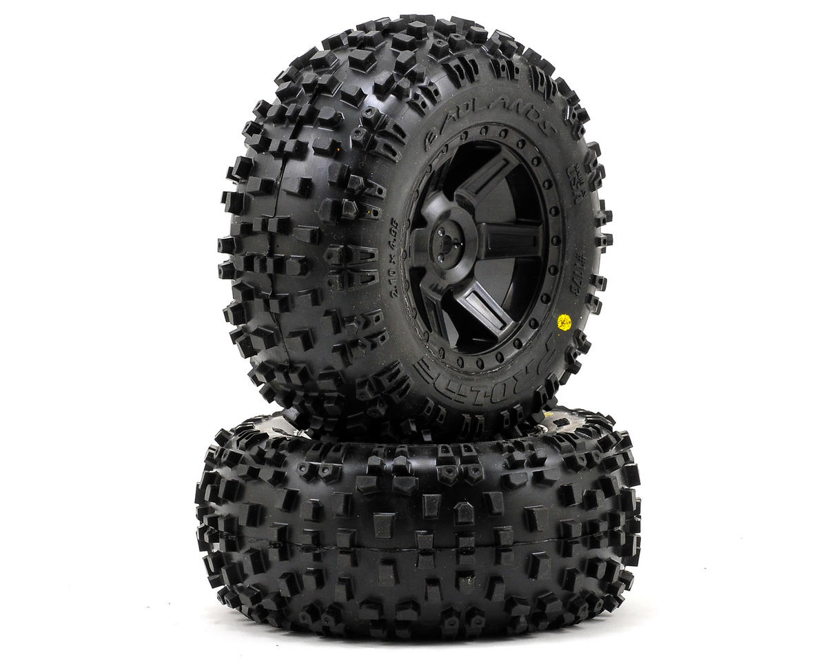 "Pro-Line Badlands 2.8"" Tires w/Desperado Electric Rear Wheels (2) (Black) (M2)"