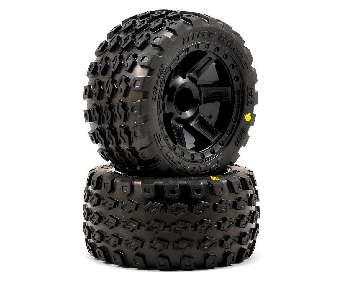"Pro-Line Dirt Hawg 2.8"" Tires w/Desperado Nitro Rear Wheels (2) (Black) (M2)"