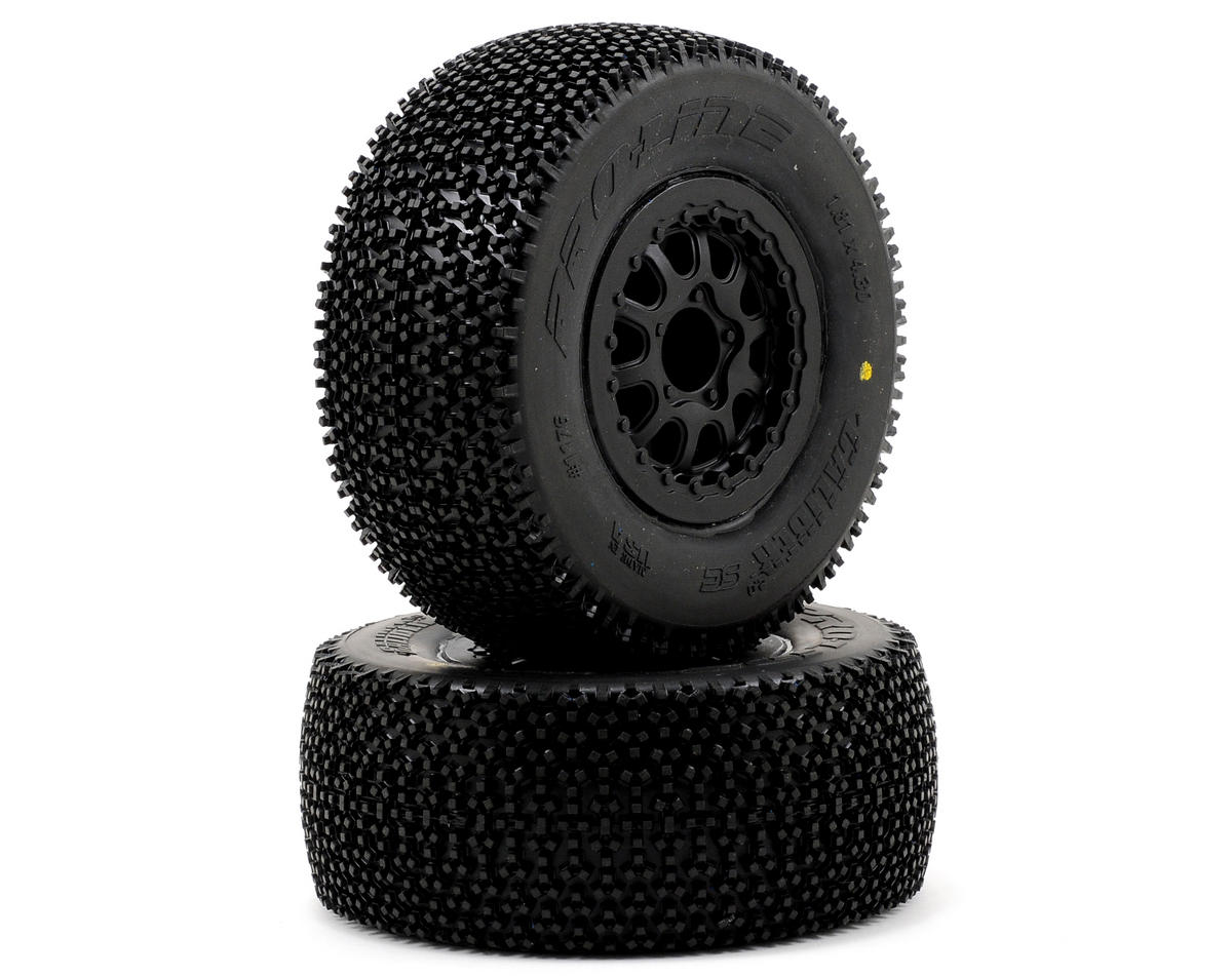 Pro-Line Caliber 2.0 SC 2.2/3.0 M2 Tires w/Renegade Wheels (Black) (2) (Slash/Re