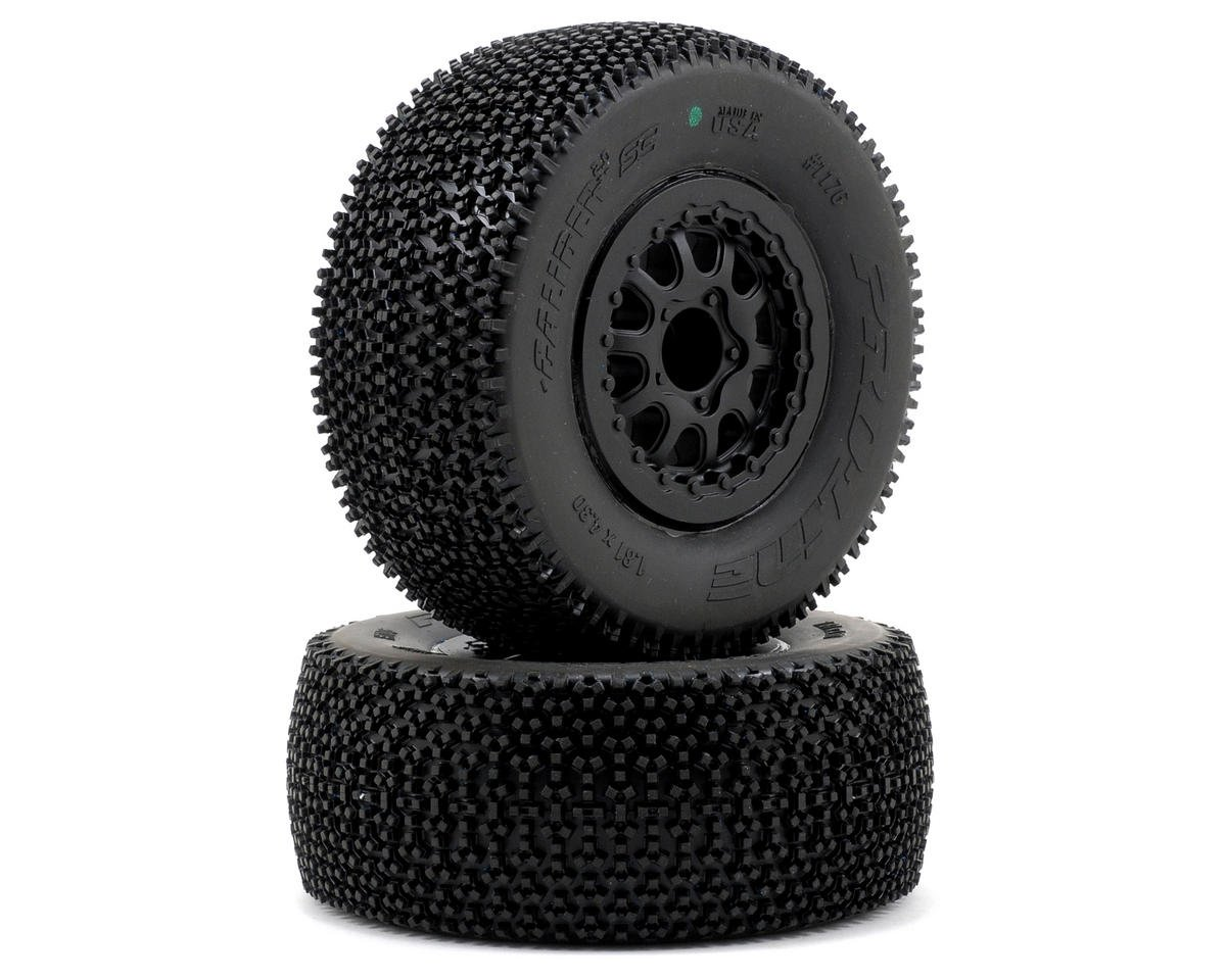 Pro-Line Caliber 2.0 SC Tires w/Renegade Wheels (2) (Slash Rear) (Black) (Traxxas Slash 4x4)