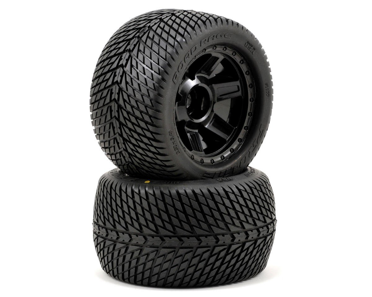 "Pro-Line Road Rage 3.8"" Tire 1/2"" Offset Wheel (2) (Black) (M2)"