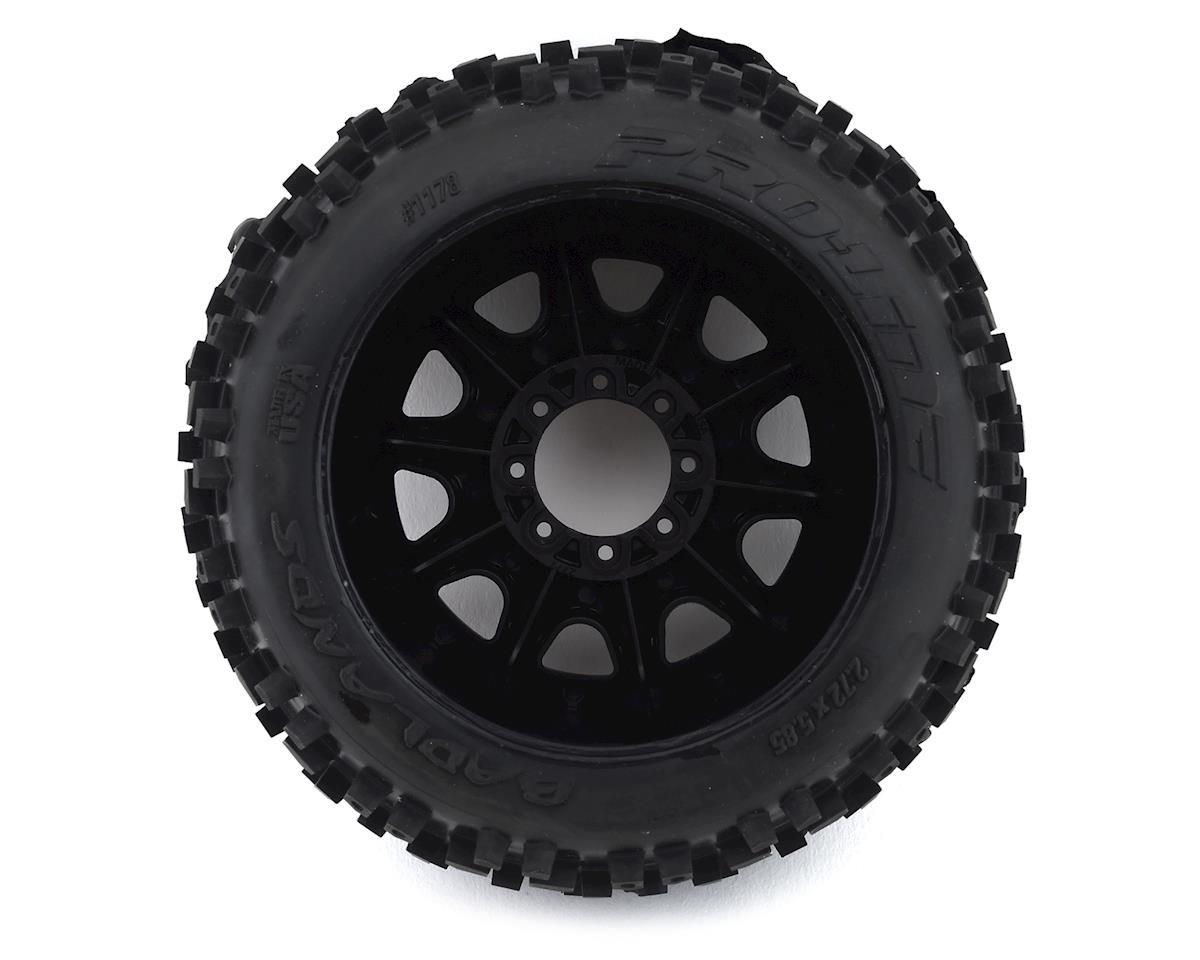 "Pro-Line Badlands 3.8"" Pre-Mounted Truck Tires (2) (Black) w/Raid Wheels (M2)"