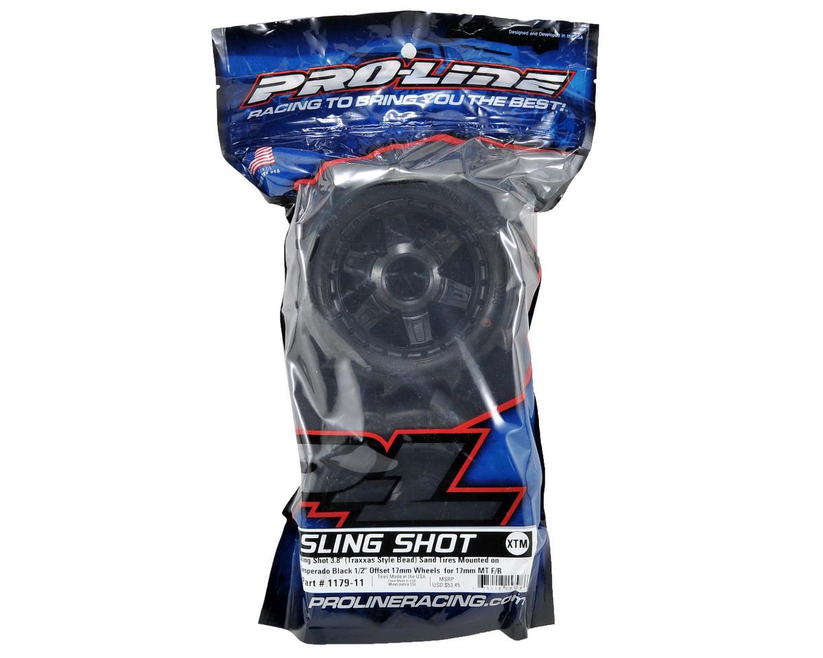 "Pro-Line Sling Shot 3.8"" Tire 1/2"" Offset Wheel (2) (Black) (M2)"