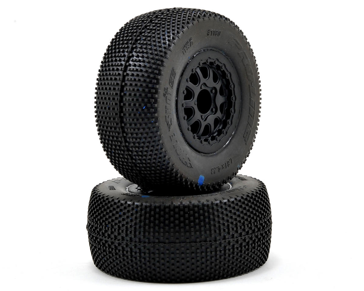 Pro-Line Hole Shot 2.0 Pre-Mounted SC 2.2/3.0 M4 Tires w/Renegade Wheel (Black)