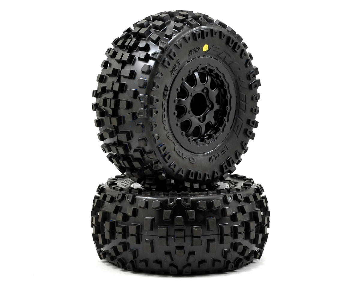 Pro-Line Badlands SC Tires w/Renegade Wheels (2) (Slash Rear) (Traxxas Slash 4x4 Ultimate)