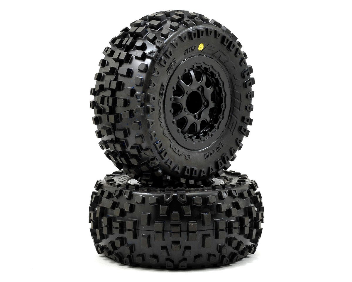 Pro-Line Badlands SC Tires w/Renegade Wheels (2) (Slash Rear) (OFNA Jammin SCRT 10 Nitro)