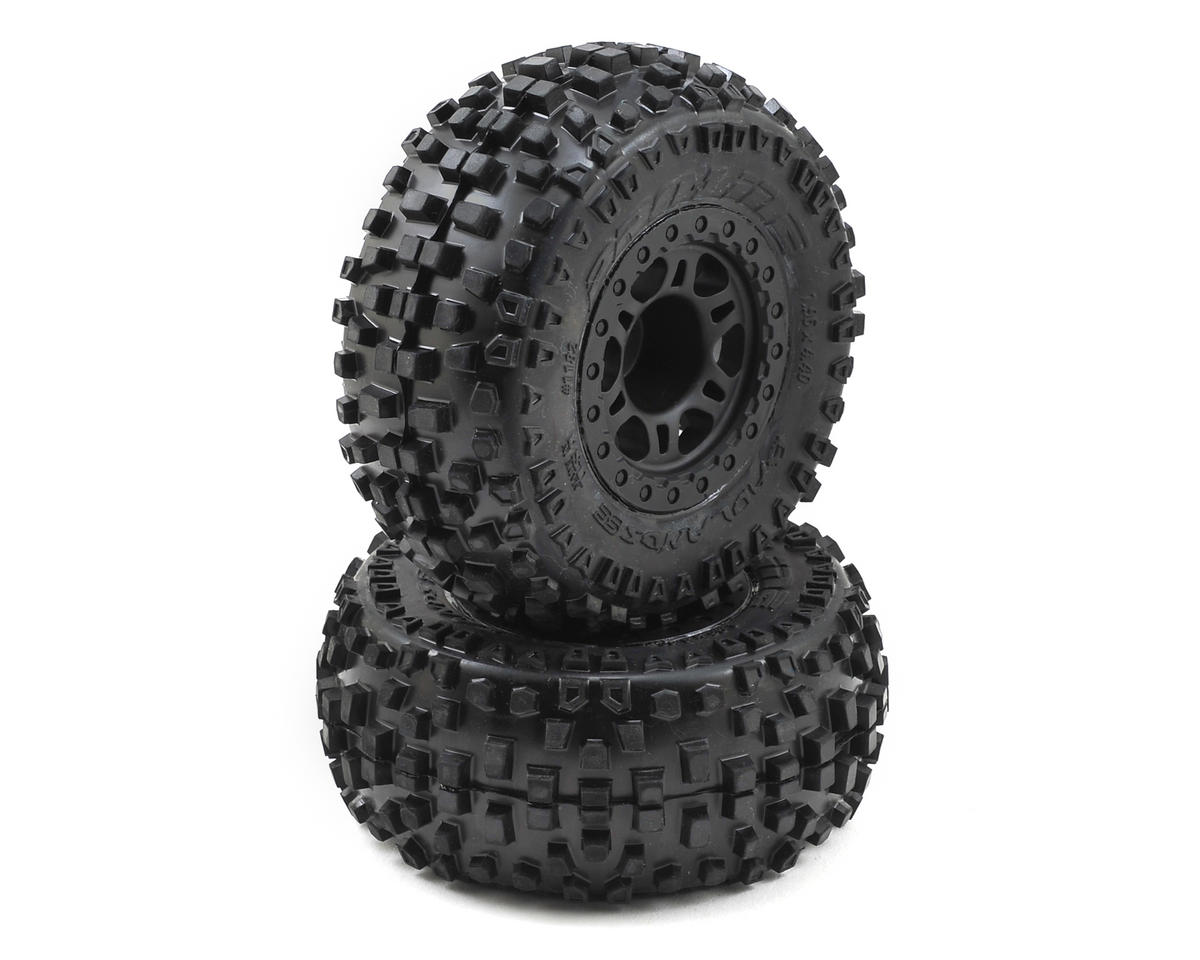 Pro-Line Badlands SC Tires w/Split Six Wheels (2) (Black) (Slash Front)