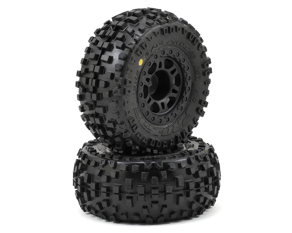 Pro-Line Badlands SC Tires w/Split Six Wheels (2) (Slash Rear) (OFNA Jammin SCRT 10 Nitro)