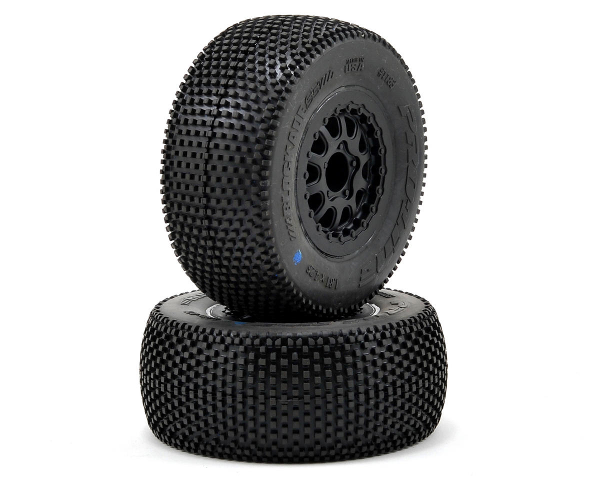 Pro-Line Blockade 2.0 Pre-Mounted SC 2.2/3.0 M4 Tires w/Renegade Wheels (Black)