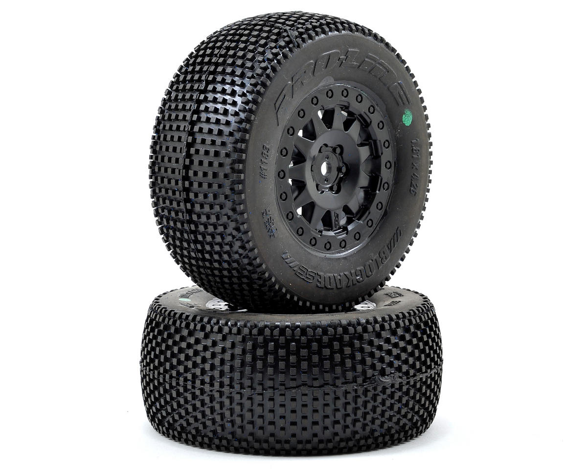 "Pro-Line PRO-2 Blockade SC Tires w/""ProTrac"" F-11 Wheels (2) (Black)"