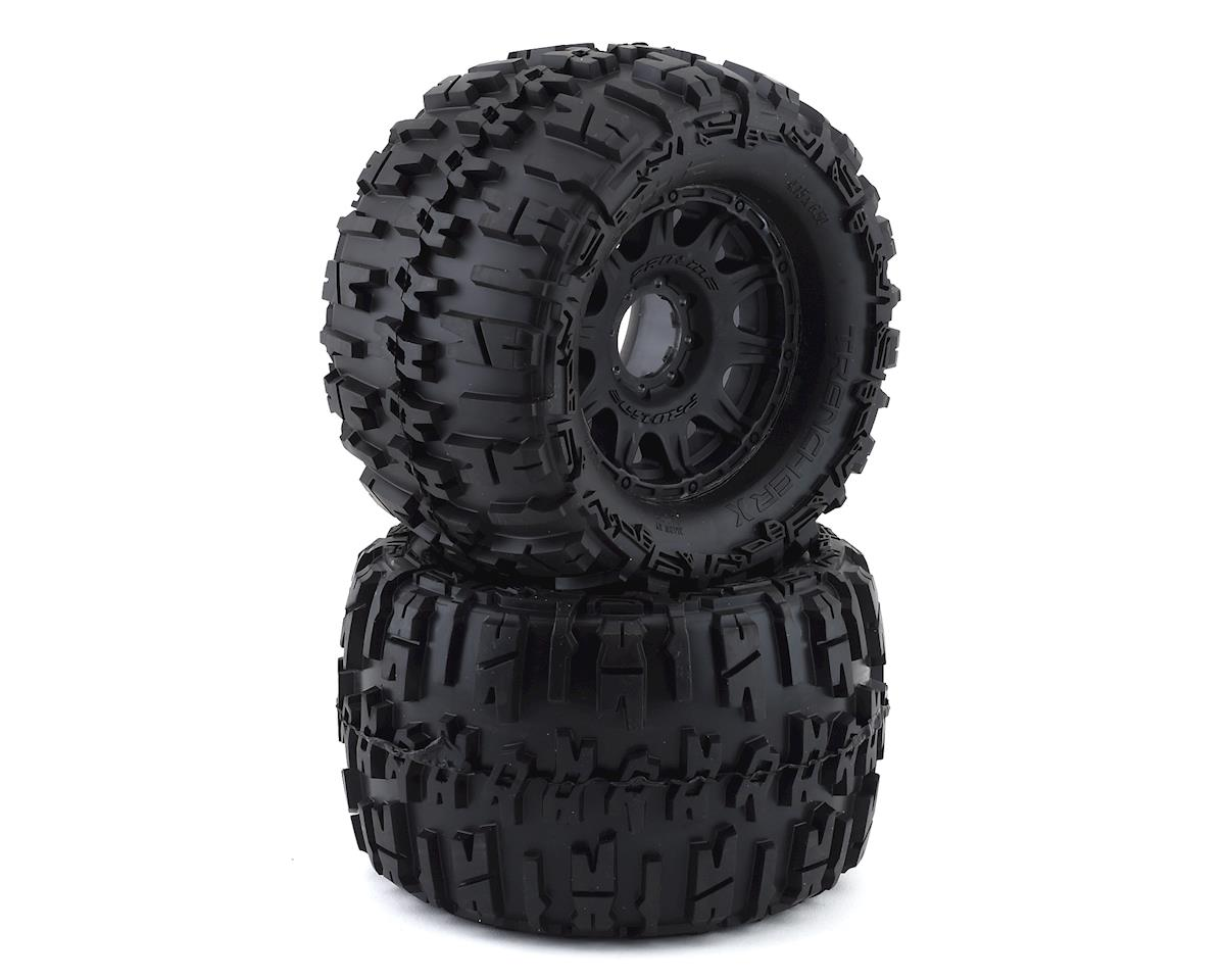 "Pro-Line Trencher X MX38 3.8"" Tire w/Raid 8x32 Wheels (Black) (2) (Tekno RC MT410)"
