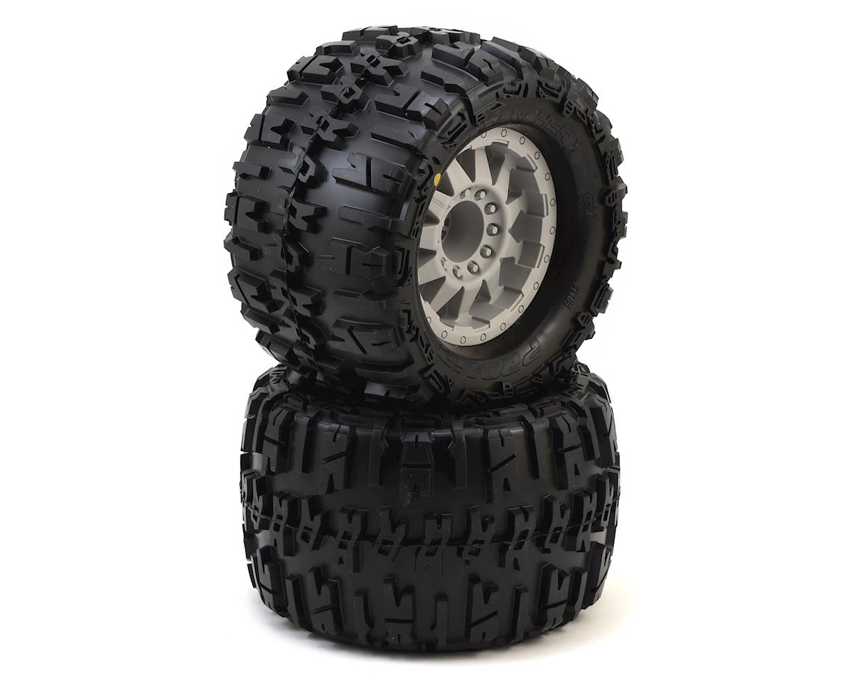 "Pro-Line Trencher X 3.8"" Tire w/F-11 17mm 1/2"" Offset MT Wheel (2) (Gray)"