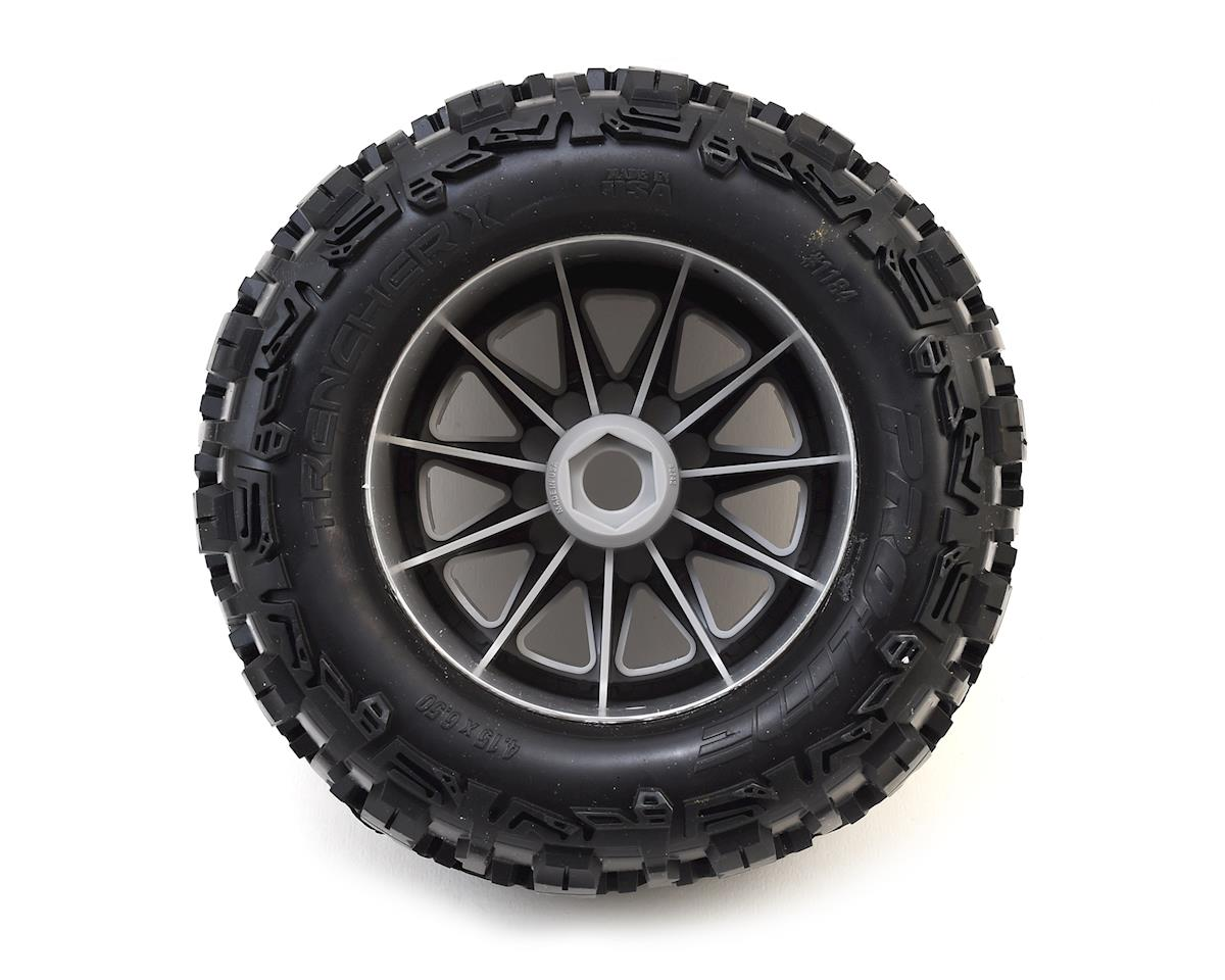 "Pro-Line Trencher X 3.8"" Tire w/F-11 17mm 1/2"" Offset MT Wheel (2) (Gray) (M2)"