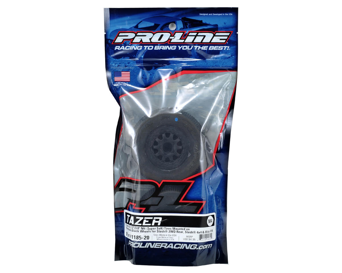 Pro-Line Tazer 2.0 Pre-Mounted SC 2.2/3.0 M4 Tires w/Renegade Wheels (Black) (2)