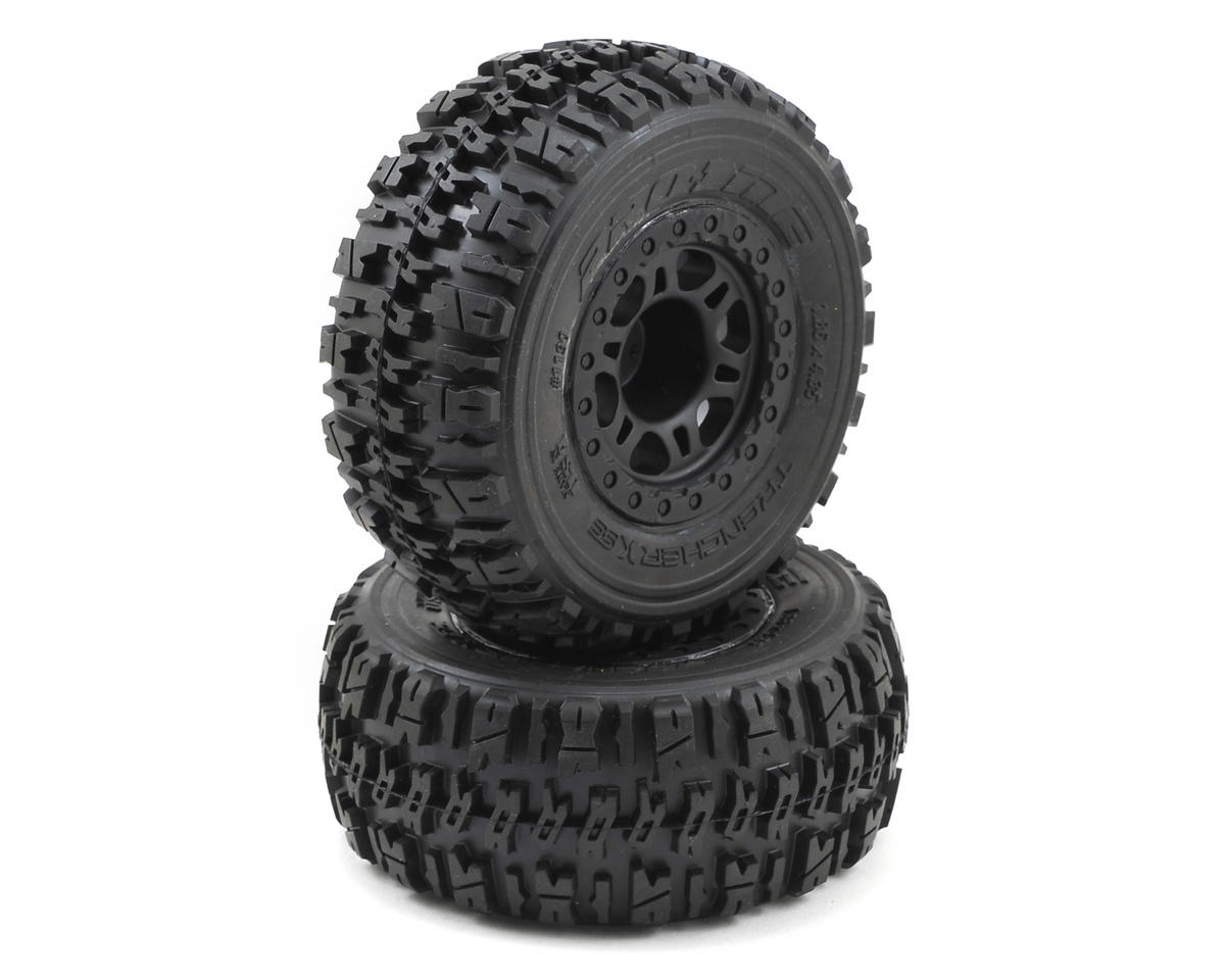 Pro-Line Trencher X SC Tires w/Split Six Wheels (2) (Black) (Slash Front)