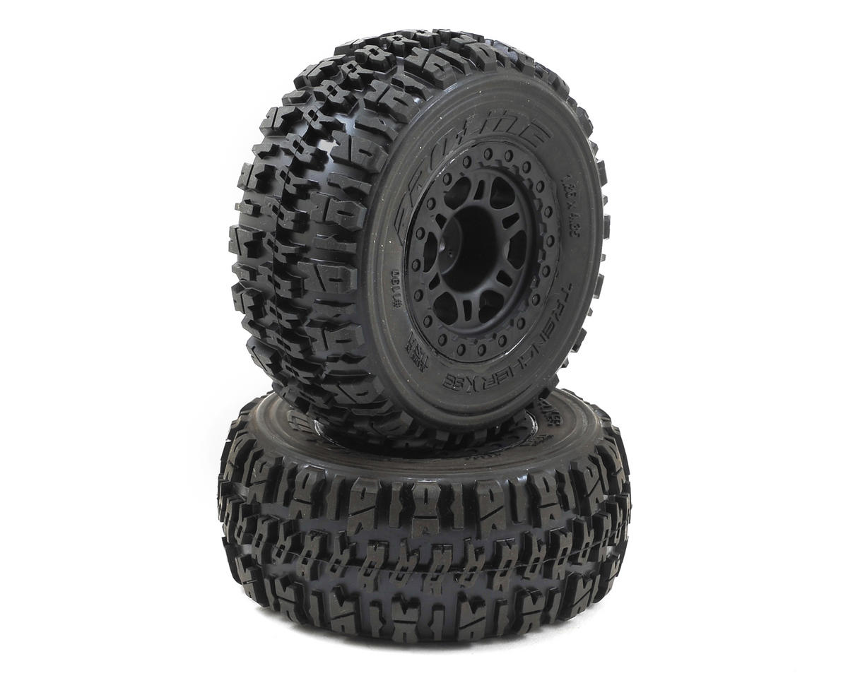 Pro-Line Trencher X SC Tires w/Split Six Wheels (2) (Black) (Slash Rear) (Traxxas Slash 4x4)