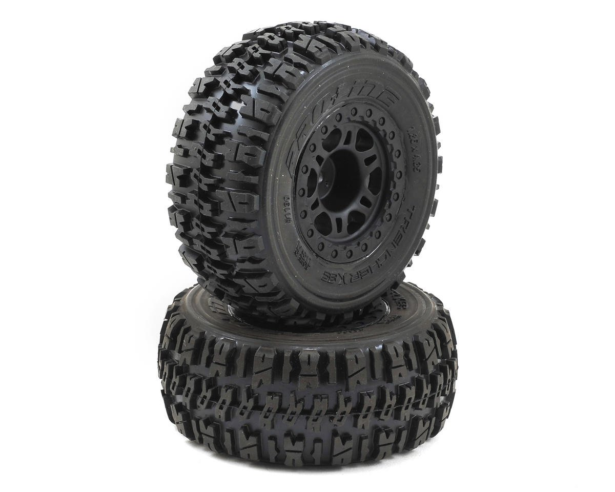 Pro-Line Trencher X SC Tires w/Split Six Wheels (2) (Black) (Slash Rear) (Traxxas Slash 4x4 Ultimate)