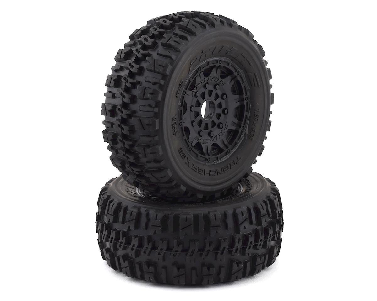 Pro-Line Trencher X SC Tires w/Raid Wheels (2) (Black) (Team Associated SC8.2e)
