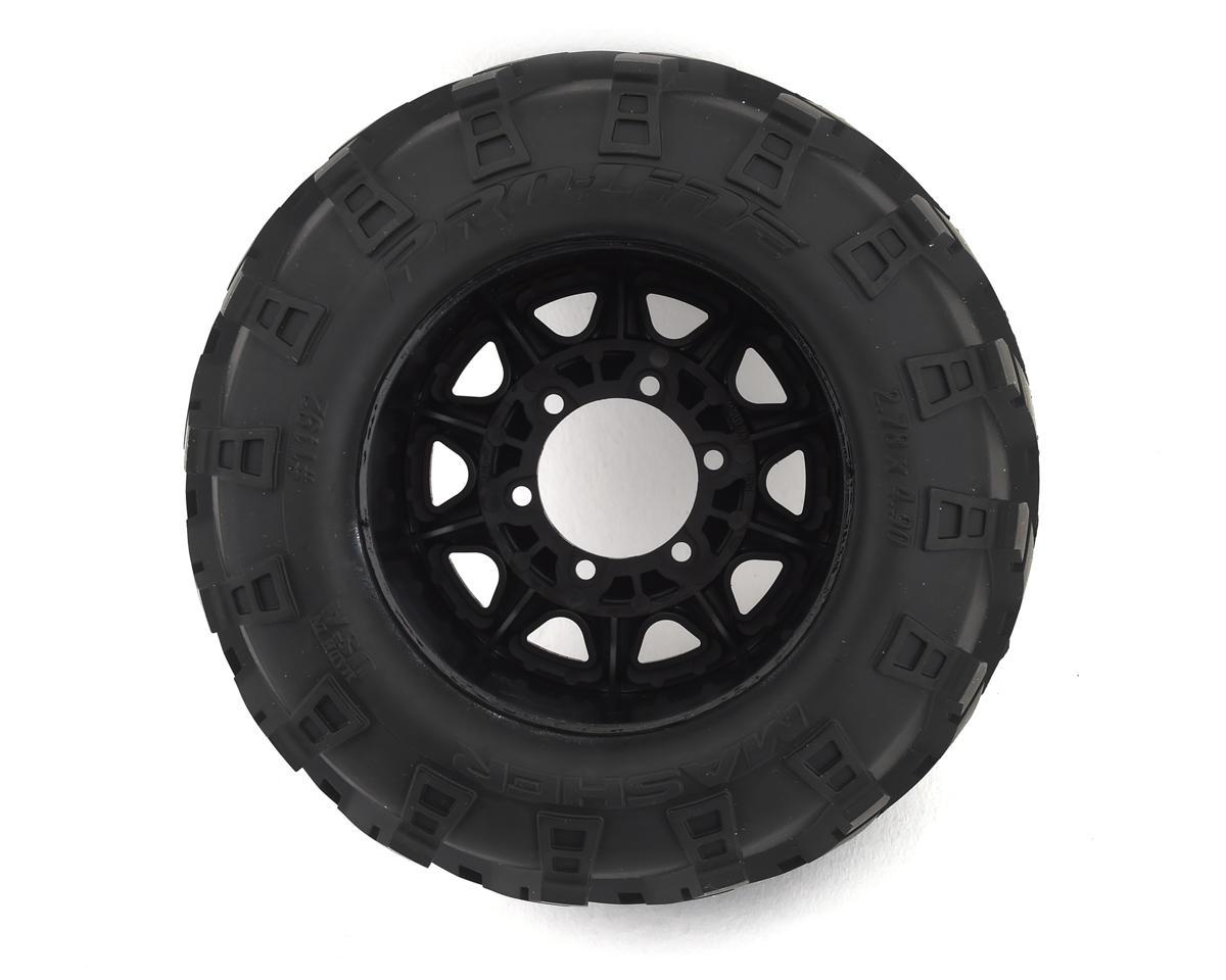 "Pro-Line Masher 2.8"" Pre-Mounted w/Raid Electric Rear Wheels (2) (Black) (M2)"