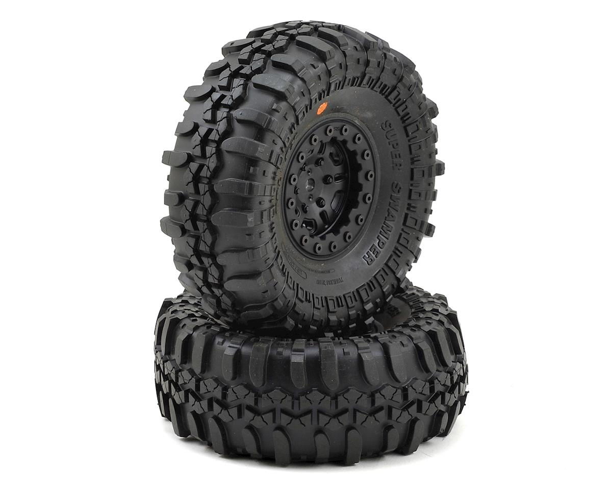 "Pro-Line Interco Super Swamper 1.9"" Tires w/FaultLine Wheels (Black) (2)"
