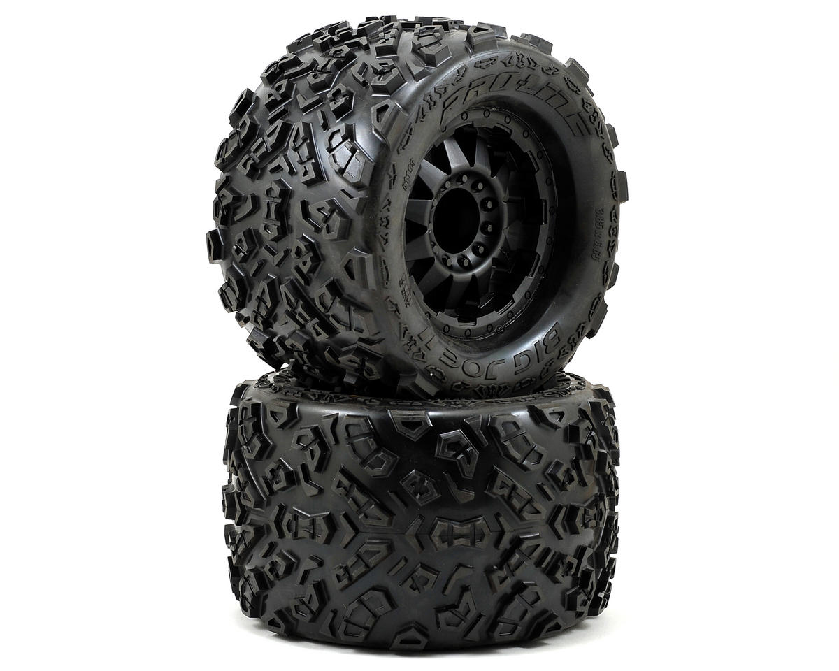 "Pro-Line Big Joe 2.0 3.8"" Tire w/F-11 17mm 1/2"" Offset MT Wheel (2) (Black) (M2)"