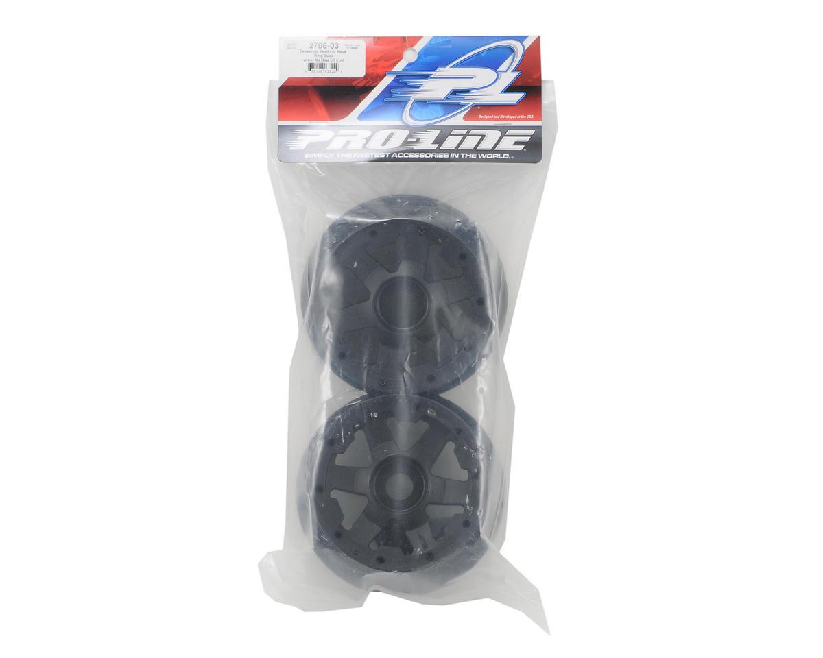 Pro-Line Desperado Front Bead-Loc Wheels (2) (Black/Black)