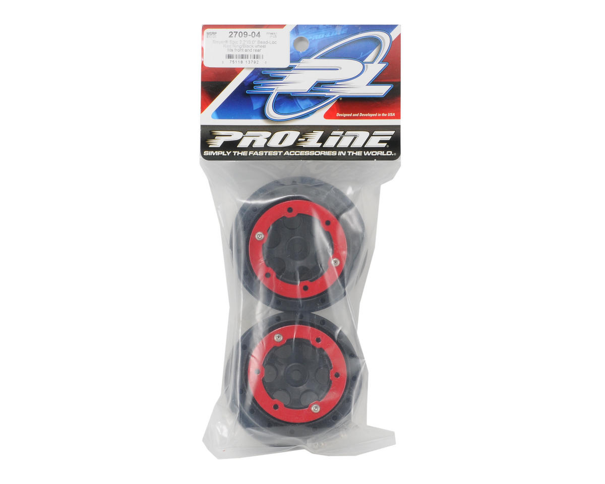 Pro-Line Epic Bead-Loc Wheels (Red/Black)