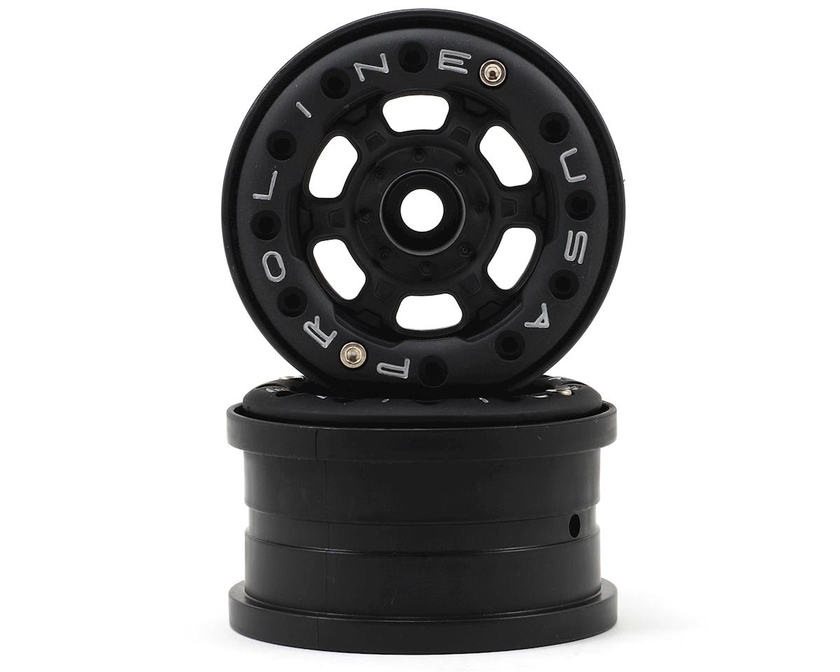 "Pro-Line Titus 2.2"" Bead-Loc Front/Rear Wheels (Black/Black) (2) (No Weights) (Traxxas 1/16 E-Revo)"